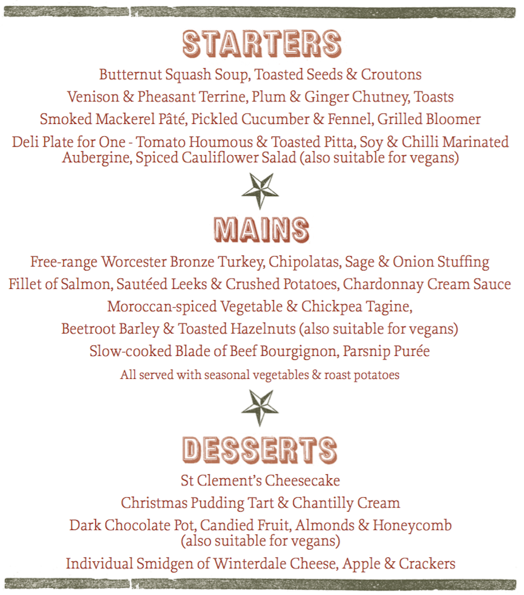 Your Christmas Party or Meal in Woburn